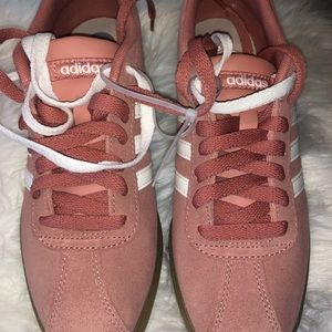 Adidas Courtset size 7 Raw Pink/ Cloud White
